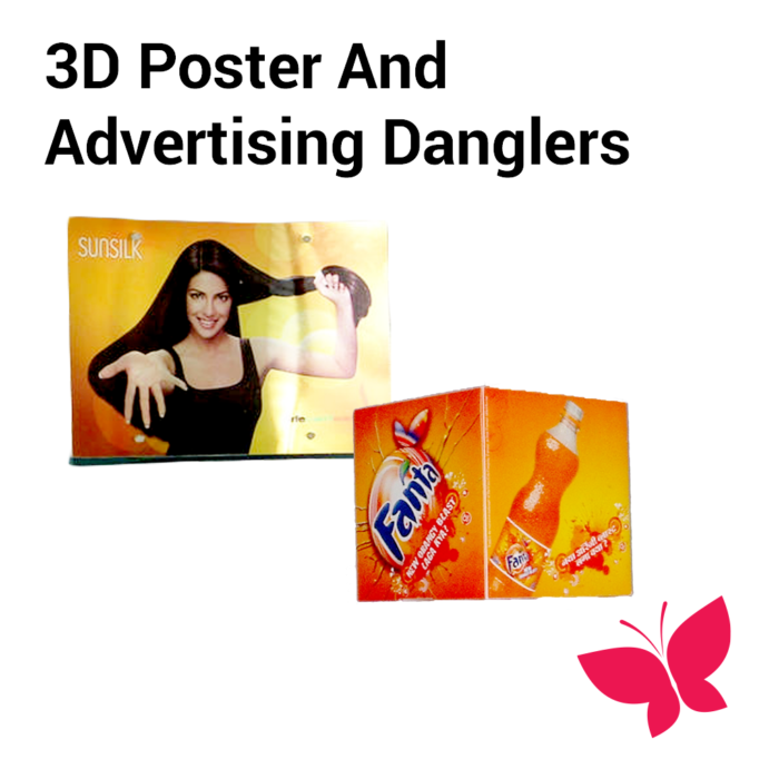 3d Poster and Advertising Danglers