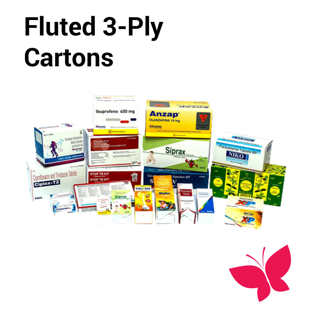 Fluted 3 Ply Cartons